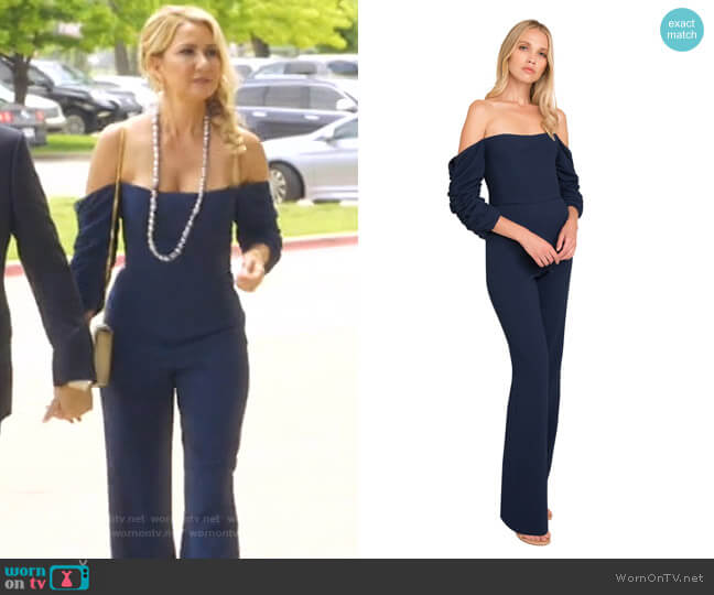 Adriana Jumpsuit by Black Halo worn by Kary Brittingham  on The Real Housewives of Dallas