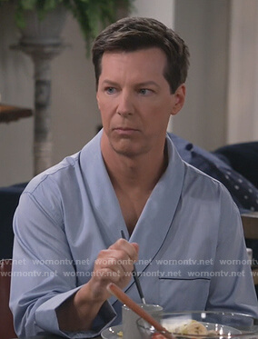 Will's blue robe on Will and Grace