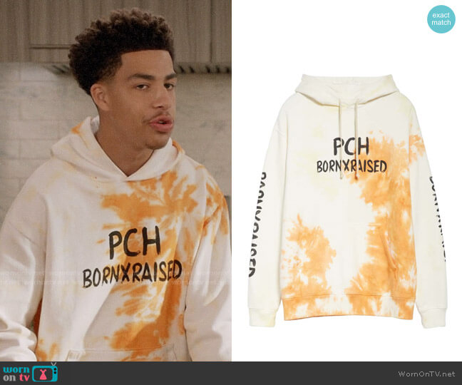 Born x Raised Wish You Were Here Hoodie worn by Andre Johnson Jr (Marcus Scribner) on Blackish