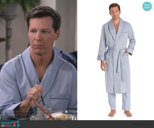 Wrinkle-Resistant Chambray Robe by Brooks Brothers worn by Will Truman (Eric McCormack) on Will & Grace