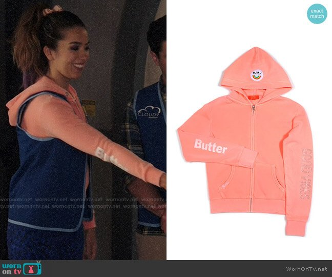 Butter Supersoft Good Vibes Hoodie worn by Cheyenne (Nichole Bloom) on Superstore