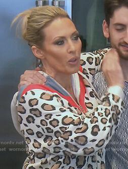 Braunwyn's leopard stripe hoodie on The Real Housewives of Orange County