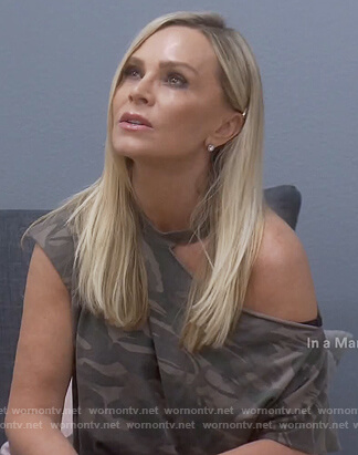 Tamera's camo cutout tee on The Real Housewives of Orange County