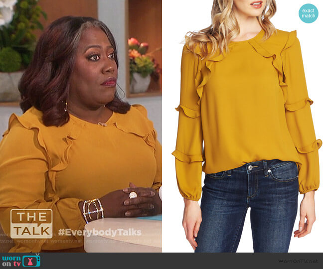 Ruffle Blouse by Cece worn by Sheryl Underwood  on The Talk