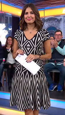 Cecilia's geometric print dress on Good Morning America