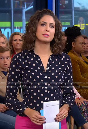 Cecilia's polka dot blouse on Good Morning America