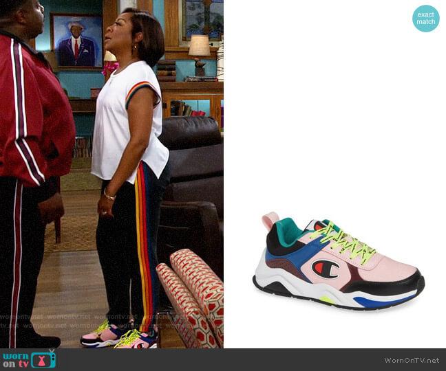 Champion 93Eighteen Block Sneaker worn by Tina (Tichina Arnold) on The Neighborhood