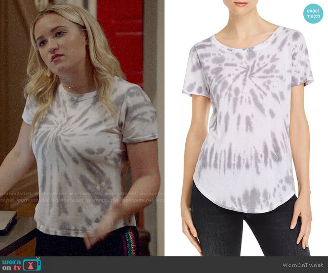 Chaser High/Low Tie-Dye Tee worn by Roxy Doyle (Emily Osment) on Almost Family