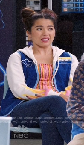 Cheyenne's flame hoodie on Superstore