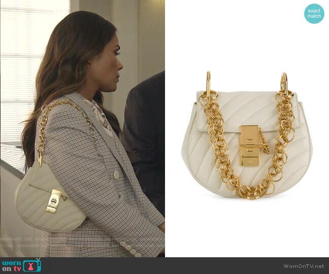 Drew Bijou Mini Shoulder Bag by Chloe worn by Cristal Jennings (Daniella Alonso) on Dynasty