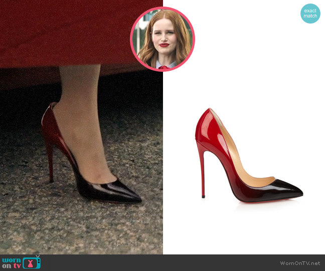 Christian Louboutin Pigalle Gollies Ombre Pumps worn by Cheryl Blossom (Madelaine Petsch) on Riverdale