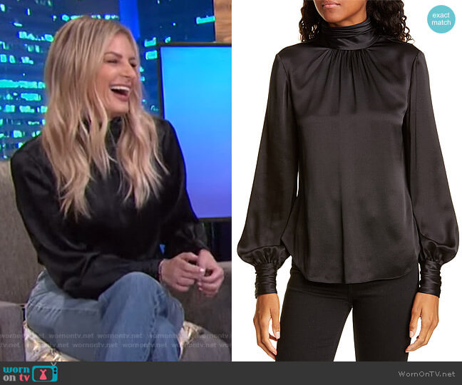Jayla Silk Top by Cinq a Sept worn by Morgan Stewart  on E! News