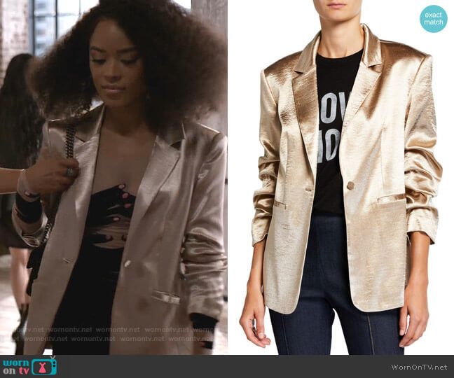 Kylie Blazer by Cinq a Sept worn by Tiana Brown (Serayah McNeill) on Empire