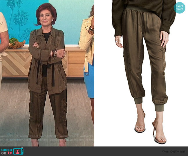 Tous Les Jours Giles Pants by Cinq a Sept worn by Sharon Osbourne  on The Talk