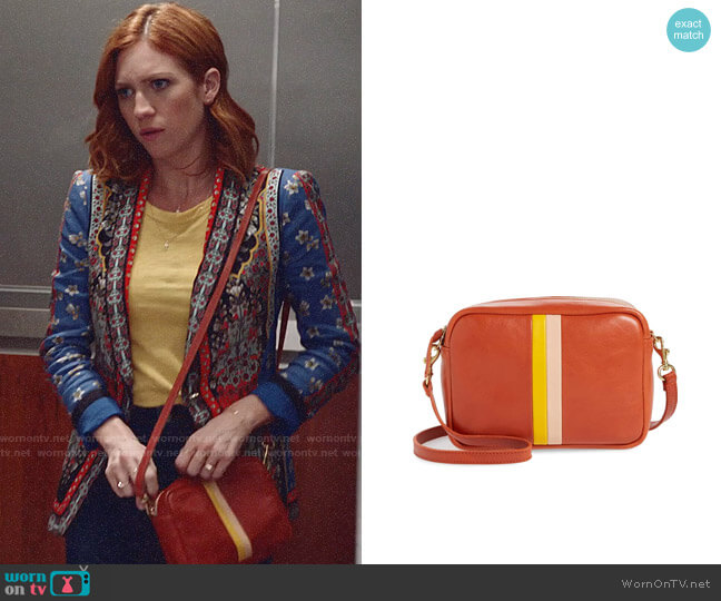 Clare V Midi Leather Crossbody Bag worn by Julia Bechley (Brittany Snow) on Almost Family