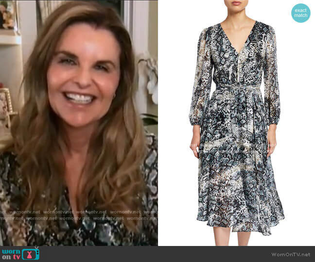 Coco Dress by Alice + Olivia worn by Maria Shriver  on Today