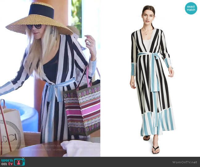 Contrast Maxi Cardigan by We Are Leone worn by Kameron Westcott  on The Real Housewives of Dallas