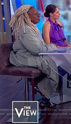 Whoopie's corduroy distressed jacket on The View