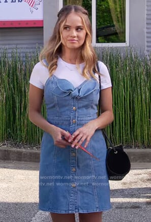 Patty's denim bow tie dress on Insatiable