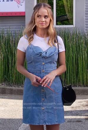 Patty's denim bow tie dress on Insatiable