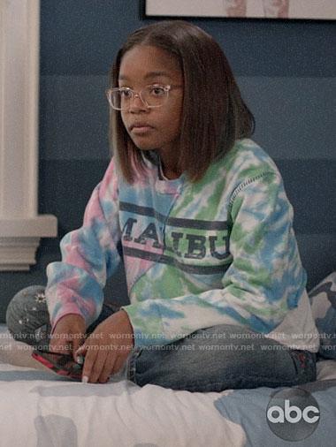 Diane's tie dye Malibu sweatshirt on Black-ish