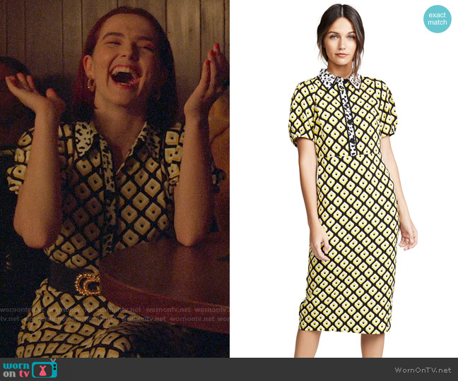 Diane von Furstenberg Elly Dress worn by Infinity Jackson (Zoey Deutch) on The Politician