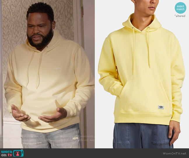 Dickies Construct Cotton-Blend Oversized Hoodie worn by Andre Johnson (Anthony Anderson) on Blackish