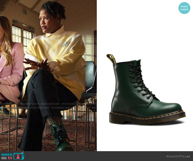 Dr Martens Originals Boot in Green worn by Skye (Rahne Jones) on The Politician