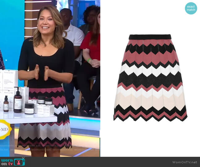 Reverie Knit Mini Skirt by Diane von Furstenberg worn by Ginger Zee  on Good Morning America