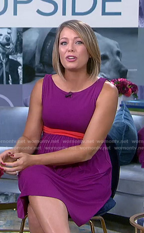 Dylan's purple maternity dress on Today