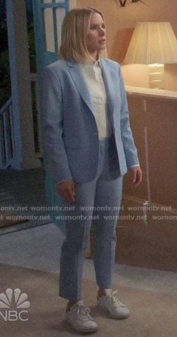 Eleanor's light blue suit on The Good Place