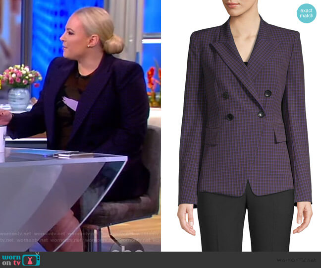 Jezebel Plaid Blazer by Elie Tahari worn by Meghan McCain  on The View