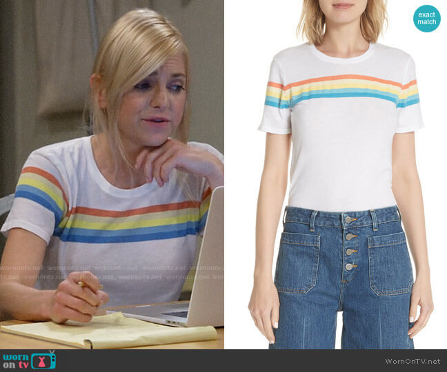 Elizabeth and James Lakota Rainbow Tee worn by Christy Plunkett (Anna Faris) on Mom