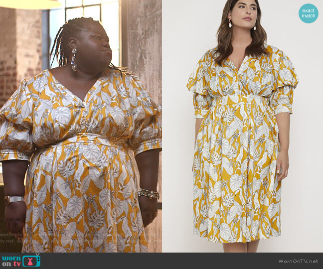 Puff Sleeve Dress by Eloquii worn by Becky (Gabourey Sidibe) on Empire