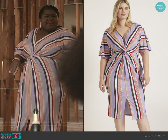 V-Neck Twist Front Dress by Eloquii worn by Becky (Gabourey Sidibe) on Empire
