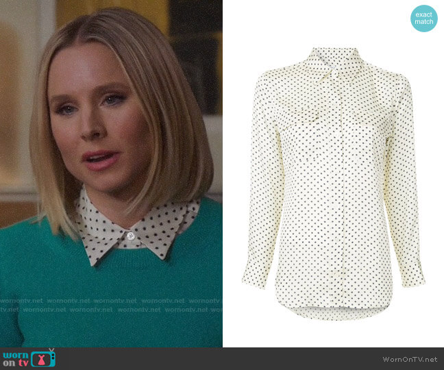 Equipment Star Print Slim Fit Shirt worn by Eleanor Shellstrop (Kristen Bell) on The Good Place