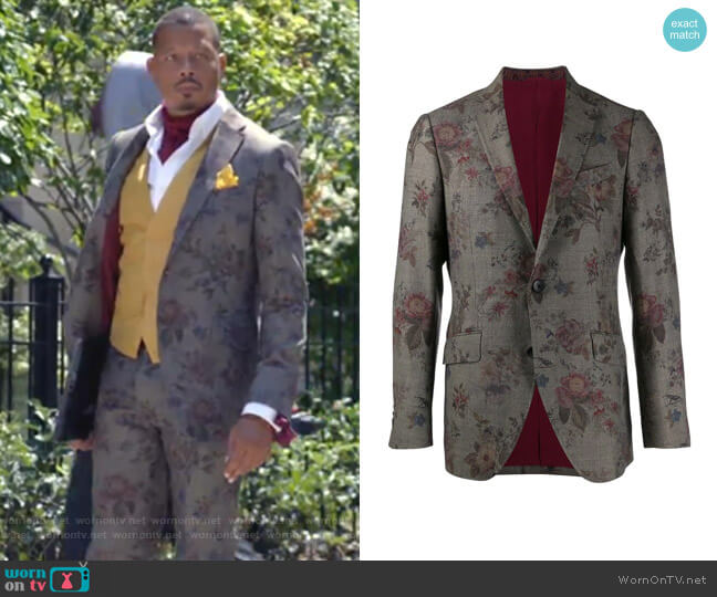 Floral-Print Blazer by Etro  worn by Lucious Lyon (Terrence Howard) on Empire