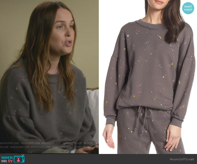 Movement Make It Count Printed Sweatshirt by Free People worn by Jo Wilson (Camilla Luddington) on Greys Anatomy