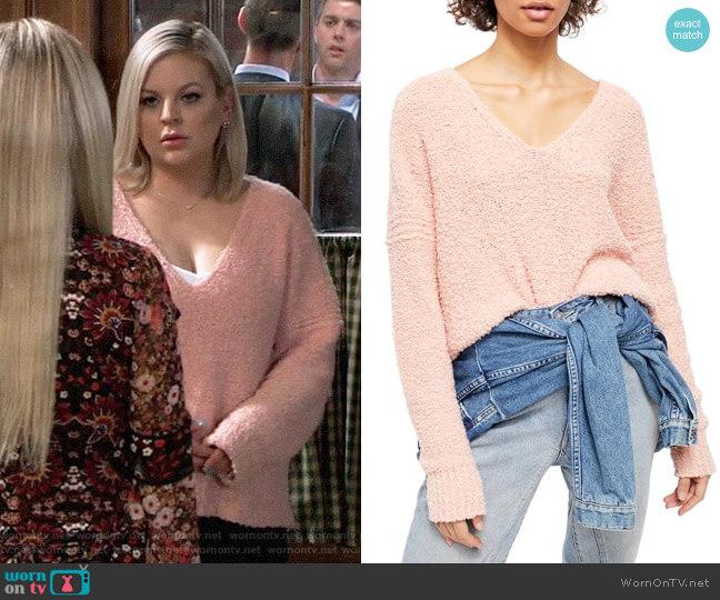 Free People Finders Keepers Sweater worn by Maxie Jones (Kirsten Storms) on General Hospital