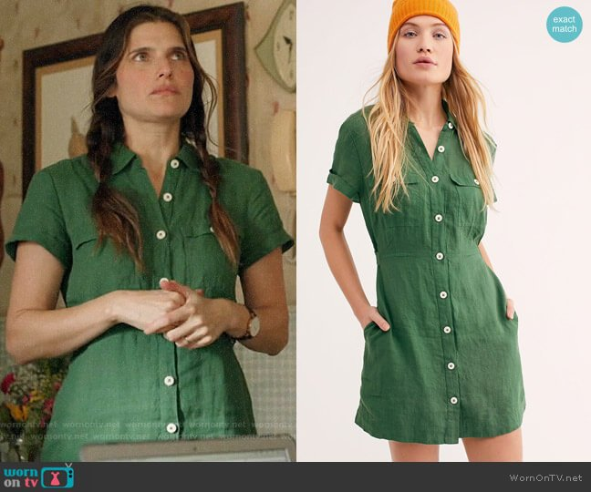 Free People Italian Love Story Dress worn by Rio (Lake Bell) on Bless This Mess