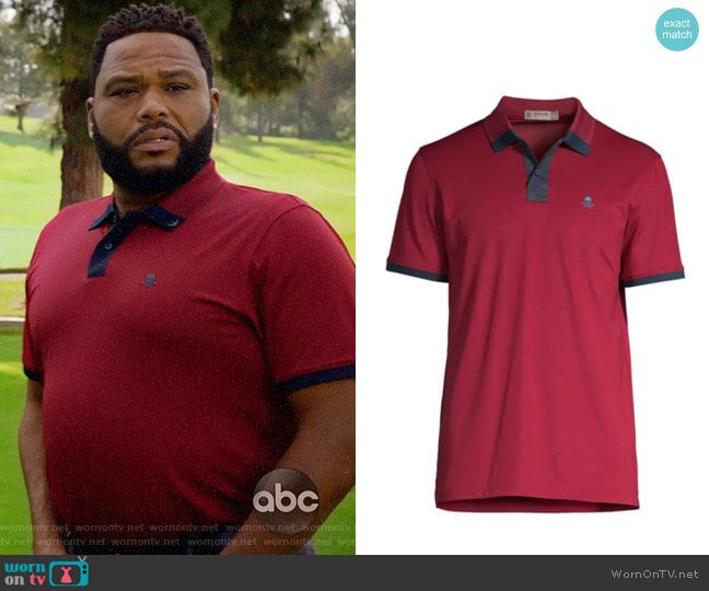 G/Fore Stretch Knit Polo worn by Andre Johnson (Anthony Anderson) on Blackish