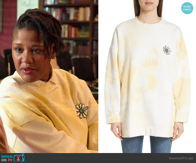 Ganni Stonecrop Isoli Sweatshirt worn by Skye (Rahne Jones) on The Politician