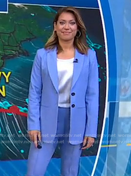 Ginger's blue suit on Good Morning America