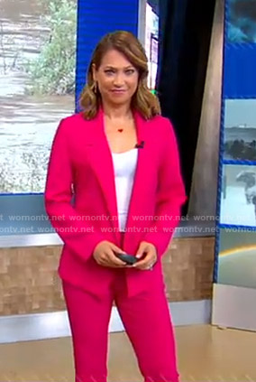 Ginger's pink suit on Good Morning America