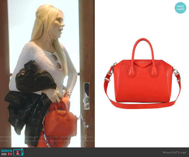Mini Antigona Sugar Leather Satchel by Givenchy worn by Kameron Westcott  on The Real Housewives of Dallas