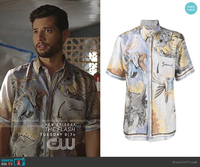Dragon Print Shirt by Givenchy worn by Sam Flores (Rafael de la Fuente) on Dynasty