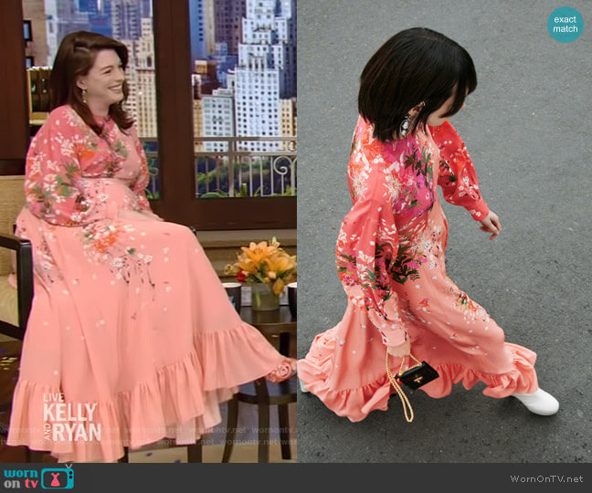 Resort Collection by Givenchy worn by Anne Hathaway on Live with Kelly and Ryan