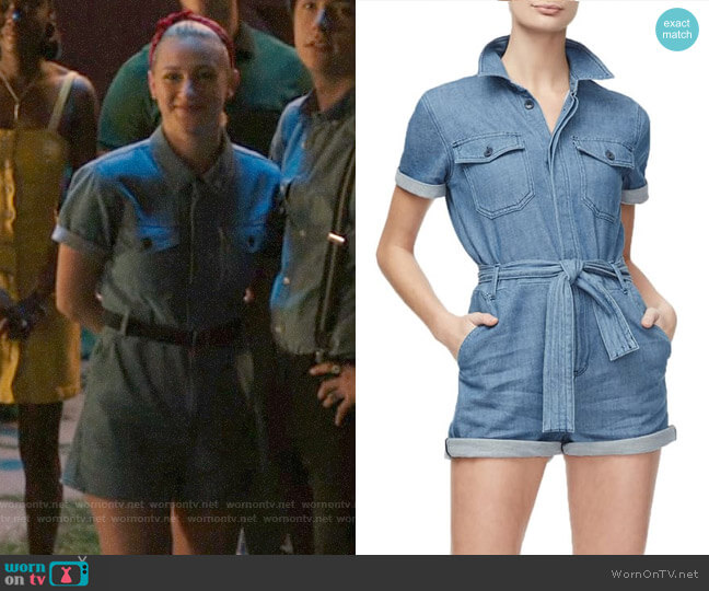 Good American Denim Romper worn by Betty Cooper (Lili Reinhart) on Riverdale