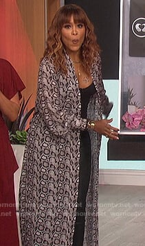 Eve's snakeskin print kimono on The Talk