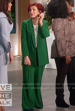 Sharon's green oversized blazer on The Talk